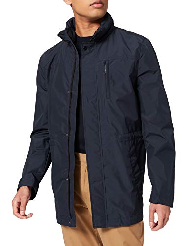 Geox M ELVER LONG HOODED - POLYESTE JACKET, Hombre, BLUE NIGHTS