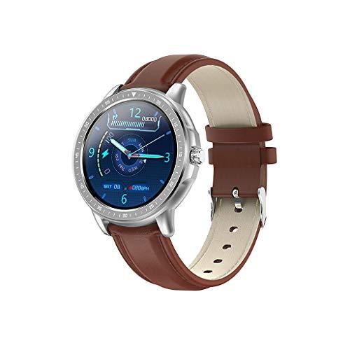 Reloj inteligente de pulsera inteligente IP68 con monitor de frecuencia cardíaca, contador de pasos, pulsera inteligente para mujeres y hombres
