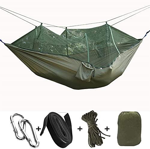 XHLLX Hamaca portátil Ultralight Parachute Hamacas Viajes Camping Hammock Hunting Pesca Mosquito Neto Doble Swing