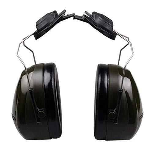 Insonorizadas orejeras A prueba de ruido de tipo casco de seguridad en la construcción de las orejeras del sitio Protección Laboral orejeras de reducción de ruido protección auditiva defensores ✅