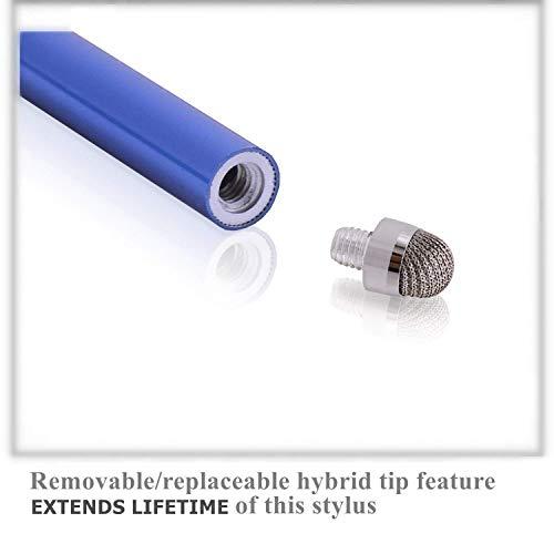 MEKO Eingabestift Stylus Touchscreen Pen für Apple iPad iPhone Tablet Samsung (Schwarz/Silber/Rot/Blau)