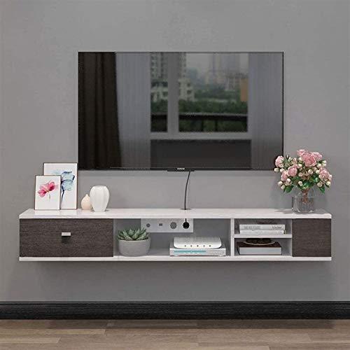 CSD Gabinete TV Media Console Gaming Console Unidad de estantería para Cajas de Cable Routers Remotes DVD Players Game Media Entretenimiento (Color : B, Size : 140×23.7×22.6cm)