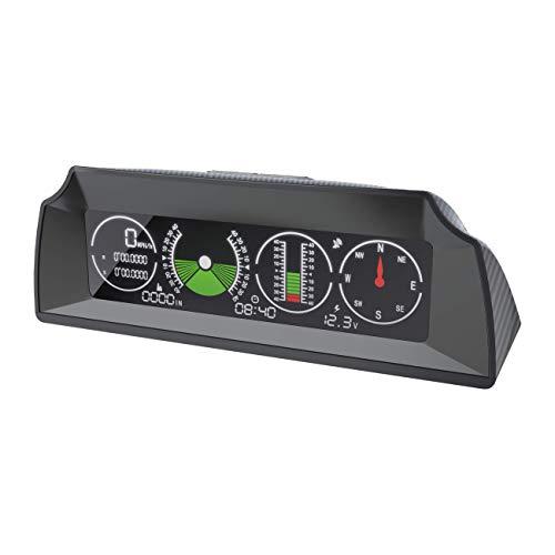 OURANTOOLS GPS NeigungsmesserOffroadDigital - AUTOOL X90 HD LCD Tachometer auto geschwindigkeitsmesser mit Kompass/Höhenmeter/Zeit Steigungsmesser KFZ für SUV, Van, Geländewagen