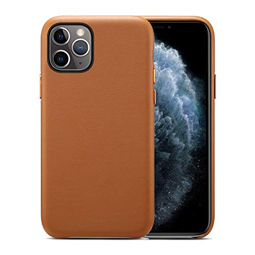 X-SongCase Leather Case Compatible with iPhone 12|12 Pro 6.1-Inch [Slim Leather Protective Case] [Supports Wireless Charging] [Scratch-Resistant]