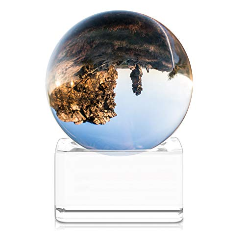 Bola de Cristal - Esfera con Soporte - Bola de Vidrio K9 Transparente - Ø 40MM