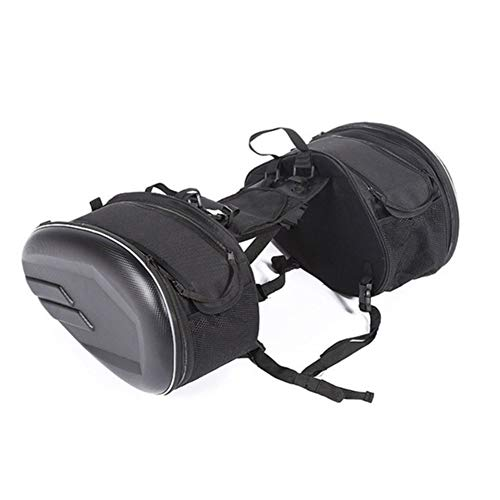 CHLi-sbags Motorcycle Saddlebags Motorcycle Helmet Travel Suitcase Saddlebags, Motorcycle Waterproof Racing Race Bags, Motorbikes Accessories (Color Name : Pu material)
