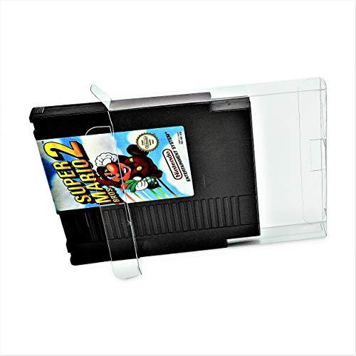 20 x Klarsicht Schutzhüllen für Nintendo Modul NES Cart 0,3mm Passgenau und Glasklar-PET-Reset Retro Game Protectors-cases-box-Staubdicht-UV-Schutz