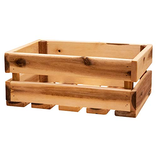 Thirteen Chefs Wood Storage Crate 135 x 95 Inch Fits Records Rustic Wooden Design
