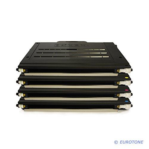 4er SET Kompatibler Eurotone Drucker Toner für Samsung CLP-500 CLP-510 CLP-515 CLP-550 Serie - CLP 500 500A 500G 500N 500NA 500R 510 510N 515 550 550G 550N - Black Schwarz + Cyan + Magenta + Yellow Gelb