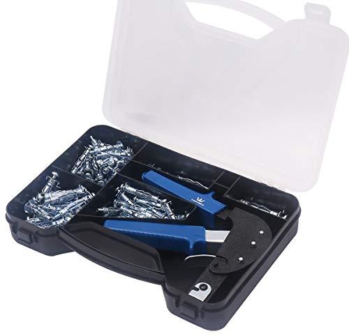 405504 Kit attrezzi per fissaggio pinze ancore cartongesso 72PC