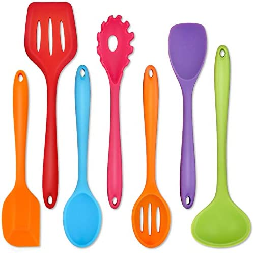 Silicone Kitchen Utensils P P CHEF 7 Pieces Cooking Utensils Spatula Set Kitchen Tools for Nonstick product image