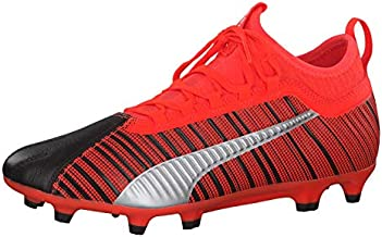 PUMA One 5.3 FG/AG Men's Leather Soccer Cleats-Black-8.5