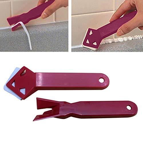 STRIR Rasquetas Tool Kit - cuchillo para juntas, perfilador de juntas, Herramienta de reparación de la costura de la lámina de pegamento de vidrio con raspador de ángulo Eliminar el rayado residual