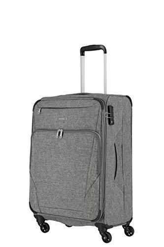 travelite 4-Rad Weichgepäck Koffer Größe M mit Dehnfalte + TSA Schloss, Gepäck Serie JAKKU: Leichter Trolley im klassischen Design, 092548-04, 67 cm, 64...