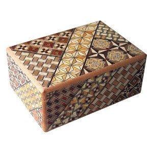 Japanese YOSEGI Puzzle Box with 12 steps (Himitsu-Bako) - Standard by Hakone Murayama Inc.