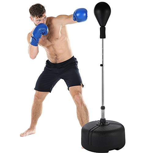 newtend Reflex Bag Free Standing Punching Bag Adjustable Height Boxing Bag Speed Punching Bags for Adults & Kids