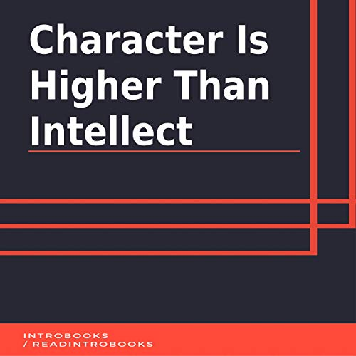 Character Is Higher Than Intellect cover art