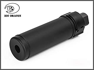 BigDragon SUREFIRE type シュアファイア クイック サイレンサー フラッシュ ハイダー付属 QD Silencer Flash Hider 14mm 逆ネジ 126mm BK BD0492BK