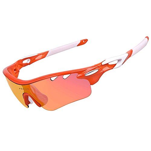 Deportivas gafas de sol polarizadas con 5lentes intercambiables para hombres mujeres ciclismo...
