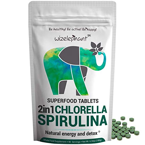 2 in 1 Chlorella & Spirulina Tablets by Wizelephant review