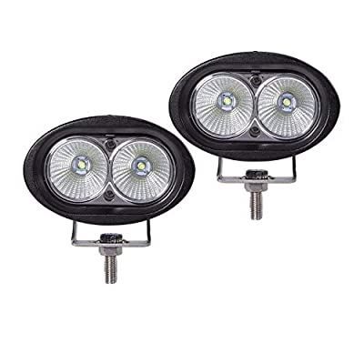 HHF LED Bulbs Lamps, Oval LED Work Light, Offroad Fog Lamp Car Auto Truck ATV Motorcycle Trailer Bicycle 4WD AWD 4x4 12v 24v Driving Headlamp 2pcs 20W (Color : FLOOD BEAM)
