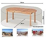 GRASEKAMP Qualität seit 1972 Schutzhülle 250x200x95cm Sitzgruppe Gartenmöbel Essgruppe Abdeckplane Beige