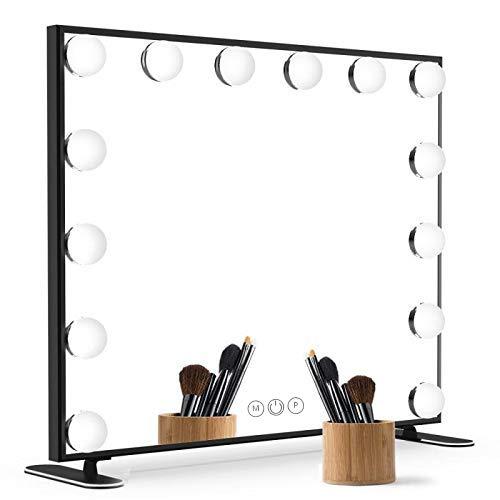 14 Bulbs Aluminum Hollywood Vanity Mirror (Black)