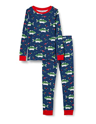 Hatley Long Sleeve Printed Pajama Set Juego de Pijama, Pesca desaparecida, 6 años para Niños