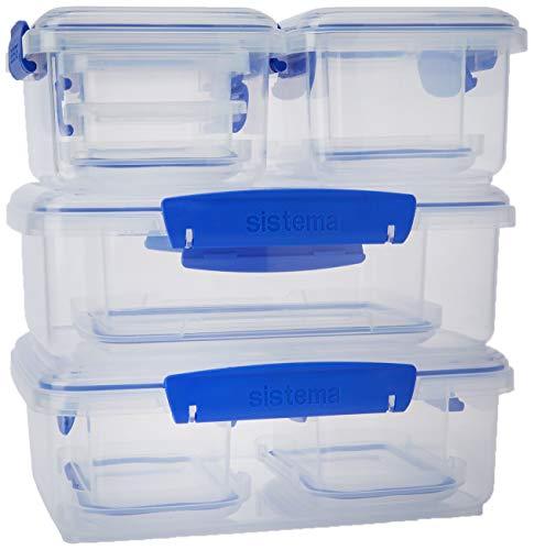 Sistema Vorratsdosen Set Klip-it 10 Stück, Plastik, transparent, 17 x 23.5 x 24.5 cm, Einheiten