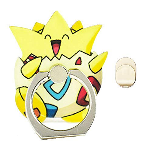 ZOEAST(TM) Phone Ring Grip Pocket Monster Sea Star Starmie Universal 360° Adjustable Holder Car Desk Hook Stand Stent Mount Kickstand Compatible with iPhone 12 11 X Plus Samsung iPad (Yellow Togepi)
