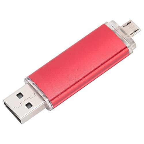Unidad Flash, Disco U liviano de Alta Capacidad 2 en 1, Rojo portátil para almacenar Videos Almacenamiento de Archivos Almacenamiento de música Almacenamiento de Fotos(64GB)