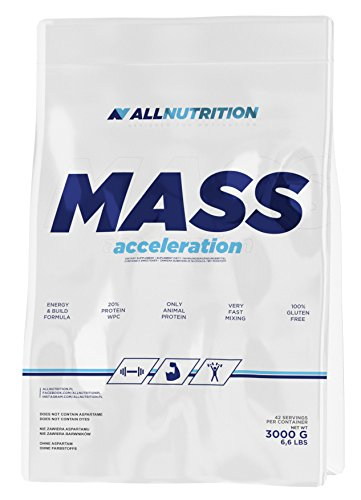 ALLNUTRITION massage Acceleration Proteïne-koolhydrat-complex Training Bodybuilding (3000g caramel - karamel)