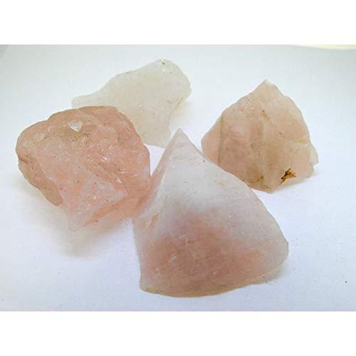 Piedras de Cuarzo Rosa Bruto Calidad A (Pack de 1 kg) Minera