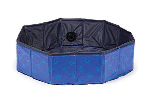 Karlie 521482 Doggy Pool Einheitsgröße, blau-schwarz