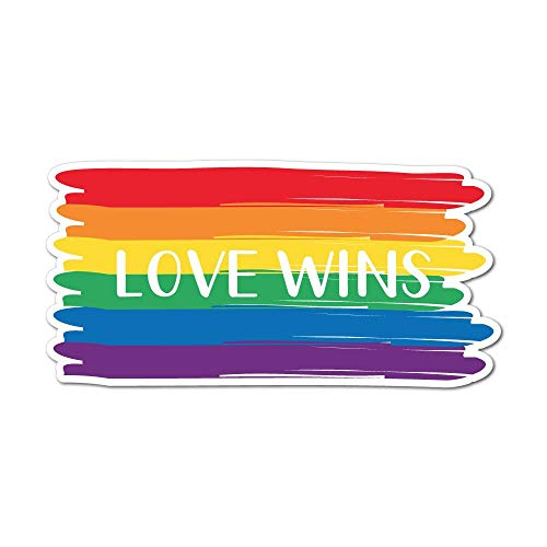 Love Wins Everytime Sticker Decal LGBT Pride Gay Colourful Love
