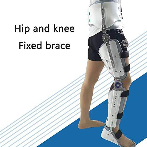 AIWO-LPT Justierbare Beinorthese for Knie- / Beinbruch- / Hüftgelenk-Stützweiß-medizinische Rehabilitations-Orthese (Size : Lightleg)
