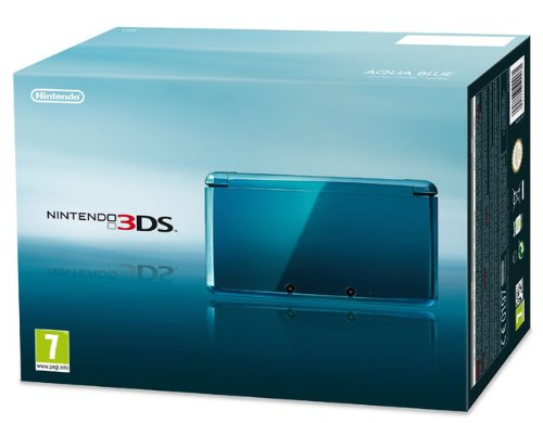 Nintendo 3DS - Konsole, Aqua blau [ES-IT-PT Version]