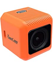 RunCam 5 4K FPV Camera 1080P HD Micro Action Camera EIS Supported 145 Degree FOV for FPV Racing Drone and Sport Video Recording, Orange