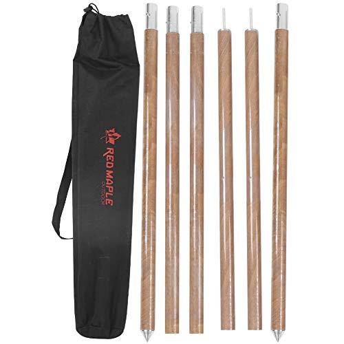 Poste de cenador ligero fácil de almacenar, diseño de hebilla de resorte Barra de soporte de toldo fácil de transportar, refugios de playa para caminatas para acampar al aire libre