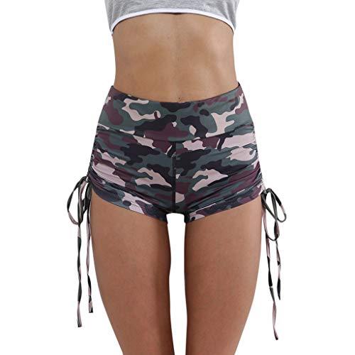 Longra shorts Damen Camouflage trägt Enge Shorts Hosen Damenmode halblange hohe Taille Kurze Shorts Damen Laufshorts Damen Yogahose Sporthose
