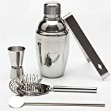 Lwieui Juego para Hacer Cócteles Conjunto de cóctel, 750 ml de consigna de Coctel con Shaker Set de Barras de Acero Inoxidable Juego de Herramientas Camarero para Mezclar Bebidas