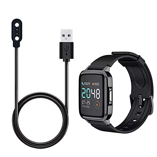 Guangcailun Reloj de Pulsera Cable de Carga USB con Cuerda de Carga del Conector de Repuesto LS01 forsolar