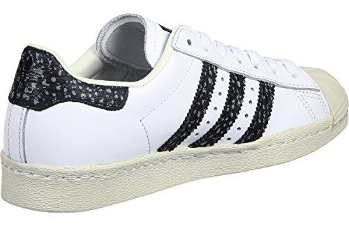 Adidas - Superstar 80S - S75847 - El Color: Negros-Blanco - Talla: 46.0