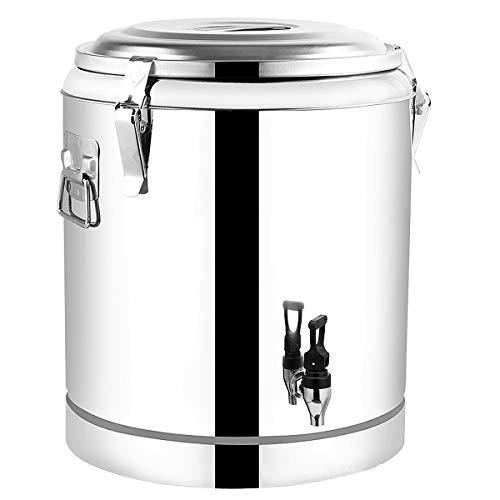 RSTJ-Sjap 304 Edelstahl-Isoliertes Fass, 12-Stunden-Isoliergetränkespender Mit Heißer Und Kalter Isolierung, Heißwasser-Milch-Tee-Kaffee-Saft Ect,20L