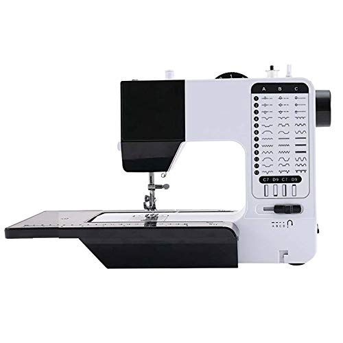 N / A Máquina De Coser Electrónica Multifuncional, Comparable A La Máquina De Coser Industrial, Máquina De Coser Overlock Eléctrica(Color:En Blanco y Negro)