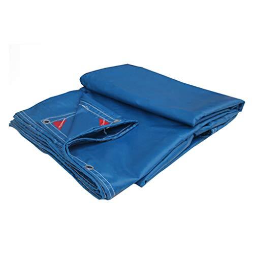 YnLRY Dachplane aus blauem Plane, wasserdicht und wasserdicht, aus PVC, Regenschutz, Regenschutz, UV-Schutz, Dicke 0,5 mm, 550 g/m², 7 Größen 3MX4M