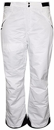 Pulse Women's Plus and Extended Plus Size Snow Skiing and Snowboarding Pants (White, 1X)