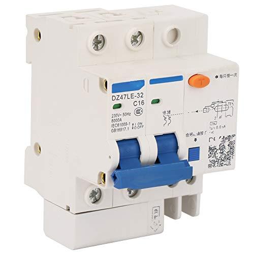 DZ47LE-32 2P+2 C16 - Interruttore automatico magnetotermico, 230V/16A, 50Hz ,6000A