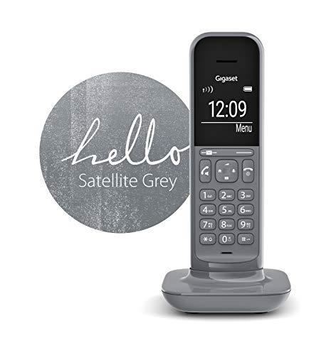 Gigaset CL390 schnurloses Design-Telefon ohne Anrufbeantworter (DECT Telefon mit Freisprechfunktion, großem Grafik Display, leicht zu bedienen mit intuitiver Menüführung) satellite grey