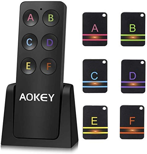 Schlüsselfinder, Wireless Key Finder - mit 6 Empfängern, Haustier Tracker, Wallet Tracker, Unterstützung Fernbedienung Schlüssel Locator